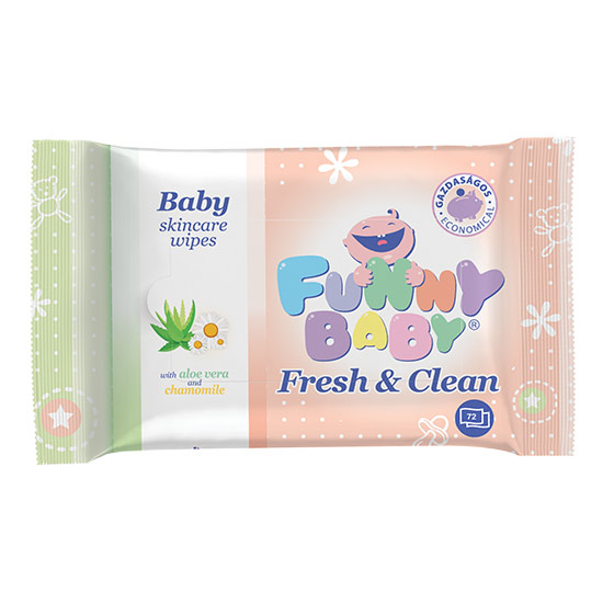 Funny Baby - Funny baby Fresh&Clean 72 lapos baba törlőkendő